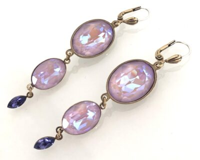Ovali Candy Glam Earrings Lavender & Gold
